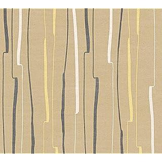 A.S. Creation 327962 Non-Woven Wallpaper A.S. Création Pattern Line Urban Flowers, Multi-Colour