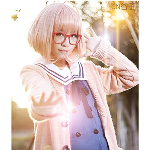 Cosplay Kuriyama Mirai Kostüm - LanTing Cosplay Perücke Beyond the Boundary Kyoukai No Kanata Perücke Corta orange Mirai Kuriyama Cosplay Party Fashion Anime Human Costume Full wigs Synthetic Haar Heat Resistant Fiber