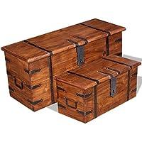Luckyfu Sitzbank aus Massivholz mit honigfarbenem Finish und Sheesham Palisanderholz, Truhe und Truhe aus Holz preisvergleich bei billige-tabletten.eu
