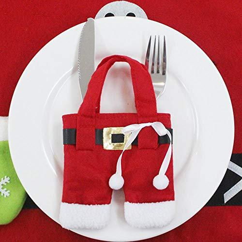 SPFAZJ Weihnachten Tischdekoration Weihnachten Geschenke Weihnachten Restaurant Dekoration Geschirr Set Desktop Dekoration Weihnachten Supp Liegt Weihnachten Kleidung Hose-Besteck-Sets (Mittelstücke Verkauf Für Hochzeit)