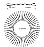#4: Export quality Bobby Bob Pin Clips Grip Slide Hairpins - 48 ps (L- 6 cm)