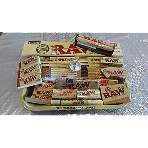 Raw Mini/S/L/XXL Vassoio di metallo con tutti i prodotti Raw Loaded/regalo perfetto per te o per i tuoi cari–Venduto da Trendz, Small Tray Mega Deal
