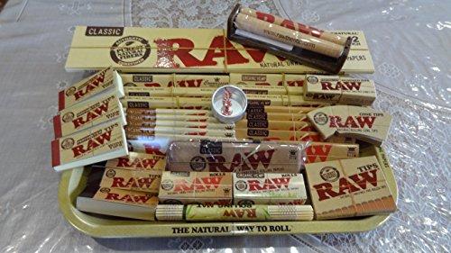 Raw Mini/S/L/XXL Vassoio di metallo con tutti i prodotti Raw Loaded/regalo perfetto per te o per i tuoi cari-Venduto da Trendz, Small Tray Mega Deal