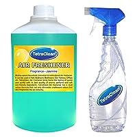 Tetraclean Multipurpose Jasmine Fragrance Air freshener With Free Spray Bottle (1100ml)