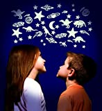 The Original Glow Stars Company Brainstorm B8600  Cosmic Glow Moon and Stars