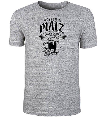 Datschi Trachten Hopfen und Malz T-shirt SlubHea-Schwarz XXL (Schädel Bio-baumwoll-t-shirt)