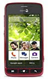 Doro Liberto 820 Mini Noir, Rouge – Smartphone (Noir, Rouge, Android, GPRS, GSM, HSDPA, HSUPA, UMTS, barre, non Subscription)