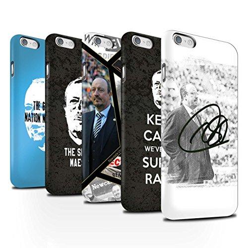 Offiziell Newcastle United FC Hülle / Matte Snap-On Case für Apple iPhone 6S / Pack 8pcs Muster / NUFC Rafa Benítez Kollektion Pack 8pcs