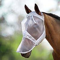 Harrison Howard CareMaster Máscara Anti-moscas Protección con nariz Plata (XL; Extra Full)