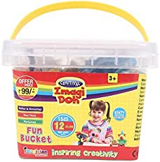 Craftival Imagi Doh - Fun Bucket 12Pcs - 180gm