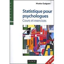 Statistiques pour psychologues : Cours et exercices