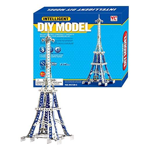 Dilwe Modell-Turm-Baukasten, Hohe Simulation Paris Tower DIY Pädagogisches Spielzeug zusammenbauen Geschenk für Kinder
