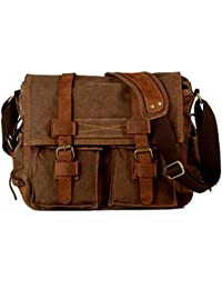 78258d5f54c9 Mens Vintage Casual Canvas Messenger Bag
