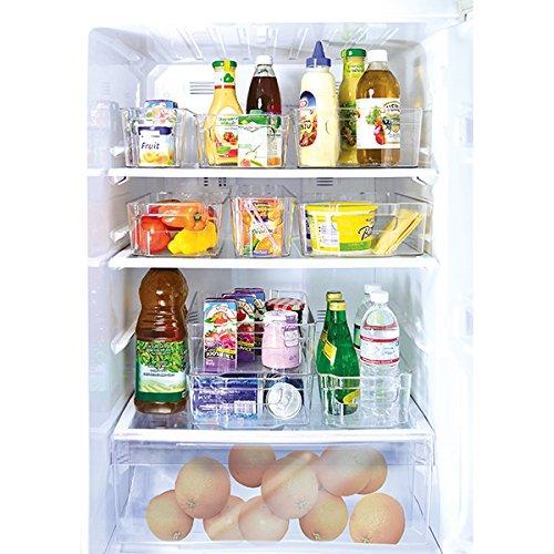 M Home Organizador de 9 Latas para Frigorífico, Plástico, Transparente, 35x14x10 cm