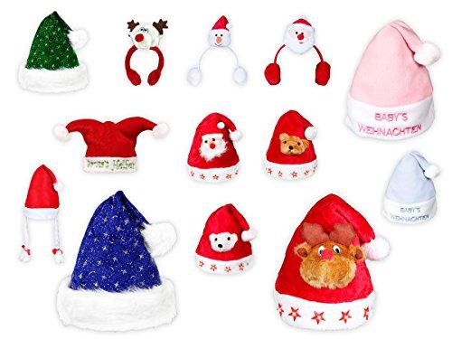 Cappello Babbo Natale per bambini e bimbi di vari colori e disegni ... 2eb889713f01