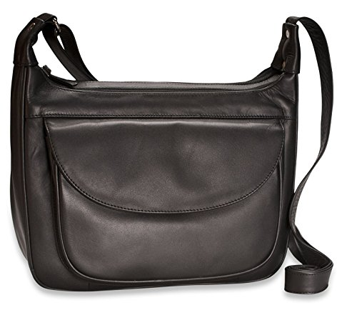 Visconti Atlantic - Handtasche / Umhängetasche für Damen - Echtleder - SANDRA # 03189 Braun