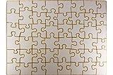 Blanko-Puzzle Holz zum individuell gestalten / bemalen, leeres Puzzle Premium Qualität, 48 Teile, 400x290 mm für Ihre Kreativität,