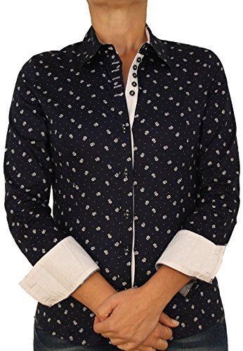 Extra Me 2231 Damen Blusen Hemden Dunkel Blau