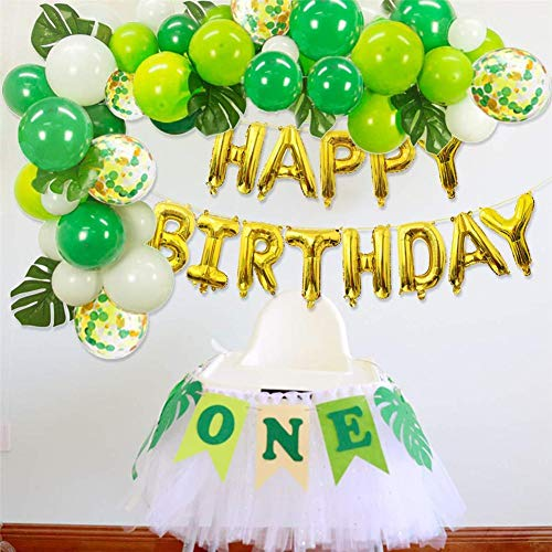 Wald Thema Party Ballon Set alles Gute zum Geburtstag Banner Hawaii Dinosaurier Wald Geburtstag Party Ballons Dekoration Dschungel Thema Party Supplies