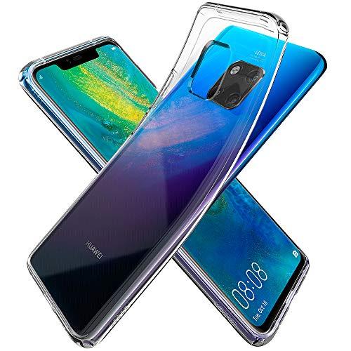 Spigen L34CS25542 Liquid Crystal für Huawei Mate 20 Pro Hülle Transparent TPU Silikon Handyhülle Durchsichtige Schutzhülle Flex Case - Crystal Clear