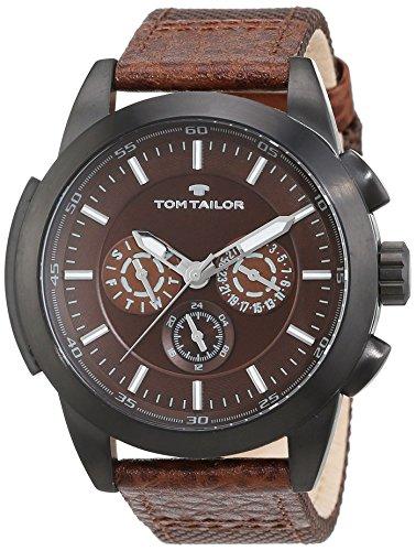 tom-tailor-5414902-montre-homme-quartz-analogique-bracelet-differents-materiaux-marron