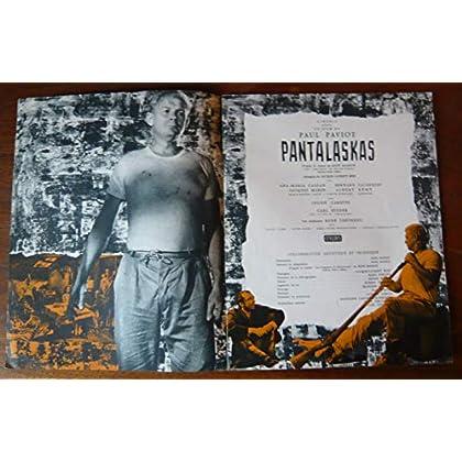 Dossier de presse de Pantalaskas (1959) – 24x30cm, 8 p - Film de Paul Paviot avec Carl Studer, A-M Cassan, B Lajarrige, J Marin, A Rémy – Photos N&B + résumé scénario – Bon état.