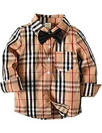 ARAUS Baby Junge Hemd Plaid Knowbot Langarm Frühling Gentlemen Baumwolle Herbst Shirts 1-7 Jahre