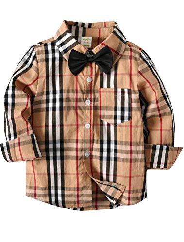 ARAUS ARAUS Baby Junge Hemd Plaid Bowknot Langarm Frühling Gentlemen Baumwolle Herbst Shirts 1-7 Jahre
