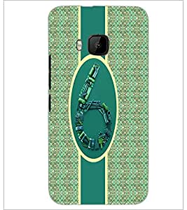 PrintDhaba Numerology Number 6 D-2716 Back Case Cover for HTC ONE M9S (Multi-Coloured)