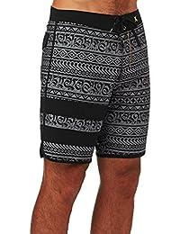 Hurley Board Shorts - Hurley Phantom Block Party Cryptik 19' Board Shorts - Black