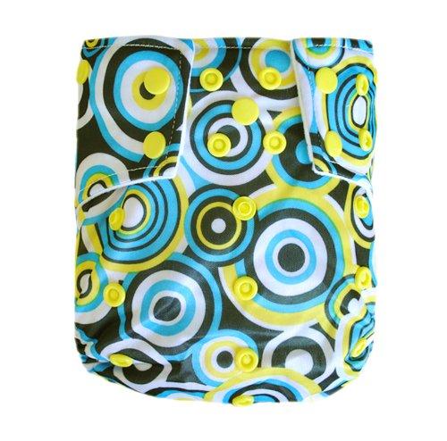 Alva Baby AL2Farbe Snap verwendbar waschbar Pocket Tuch Windel Windel mit 2Einsätzen - Zwei Pocket-hose