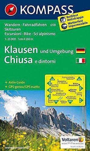 Klausen und Umgebung - Chiusa e dintorni 1 : 25 000 par Kompass-Karten