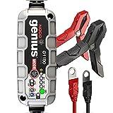 NOCO Genius G1100EU 6V / 12V 1,1 Ampères Chargeur de Batterie Intelligent et Mainteneur pour Voiture et Moto
