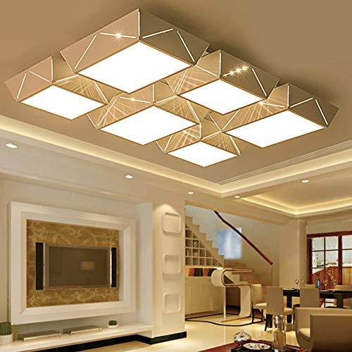 OOFAY Einfache Und Moderne Deckenleuchte LED Rechteckiges Schlafzimmer Wohnzimmer Mit Terrasse Kronleuchter,120Cm*80Cm - Moderne Rechteckige Kronleuchter