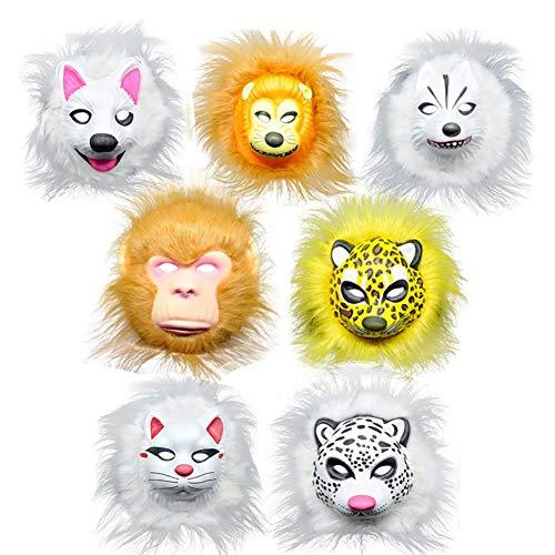 blendivt 1/5 STÜCKE Lustige Eva Kinder Cartoon Tier Masken Dress Up Kostüm Zoo Jungle Party Supplies Für Kinder (Muster Zufällig)