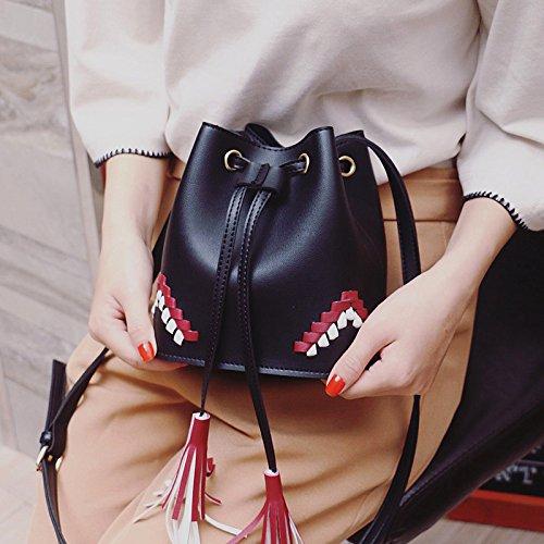 Mefly Spalla Singolo Obliqui Di Spallamento Molla Sacco Versione Coreana Nuova Lady Obliqui Di Spallamento Brown black