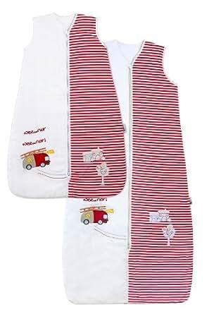 Schlummersack Baby Ganzjahres Schlafsack 2.5 Tog - Feuerwehr - 0-6 Monate/70 cm