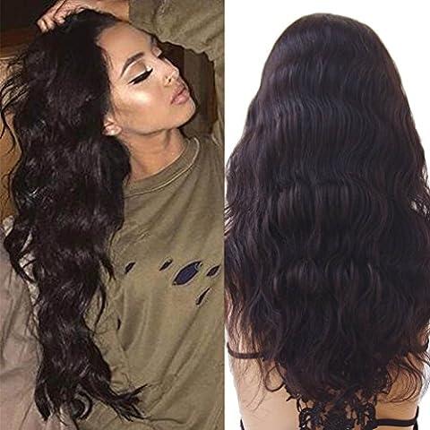 S-noilite ® 100% Perruque de cheveux brésiliens naturels vierges, ondulés avec cheveux de bébé Remy, cheveux sans colle, perruques à lacet pour femme, densité de