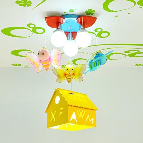 Bienenhaus LED-Leuchten Kinder Jungen und Mädchen Lampen Cartoon-Mädchen-Schlafzimmerlampe Beleuchtung Kinderzimmer hängen ( farbe : Gelb )