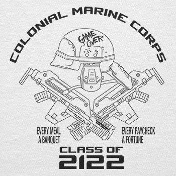 Texlab–Colonial Marine Corp Class of 2122–sacchetto di stoffa Bianco