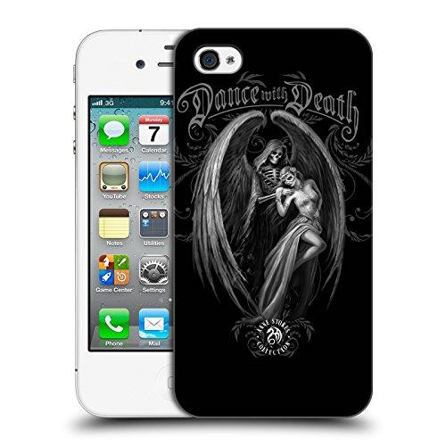 Ufficiale Anne Stokes Attendi la notte teschio Gotico Cover Retro Rigida per Apple iPhone X Danza con la morte