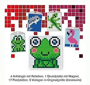 Pracht Creatives Hobby P90032-63501 - Juego de Manualidades para Manualidades (12 Piezas, para 4 medallones, Llavero, para niños, niños y niñas, Ideal como pequeño Regalo, para cumpleaños Infantiles)