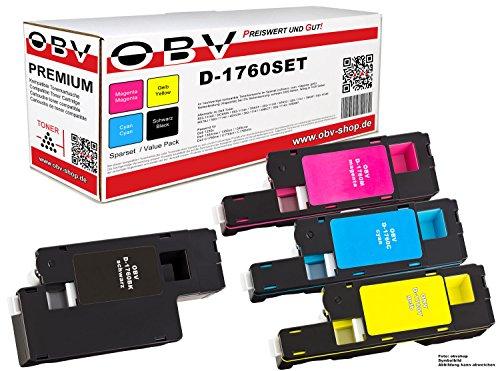 Preisvergleich Produktbild 4 x Kompatibler Toner für Dell C1760 / C1765 schwarz, cyan, magenta, gelb