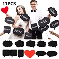 Photo Booth Props DIY Große Größe 11 Stück Foto Booth Party Fotostand Requisiten Hochzeit mit Aufsteckspindeln für Hochzeitsfest Wiedervereinigun