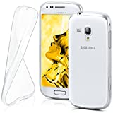 moex Samsung Galaxy S3 Mini | Hülle Silikon Transparent Klar Clear Back-Cover TPU Schutzhülle Dünn Handyhülle für Samsung Galaxy S3 Mini S III Case Ultra-Slim Silikonhülle Rückseite