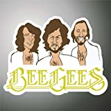 Aufkleber - Sticker Bee Gees hip hop rap jazz hard rock metal pop funk sticker