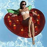 Royalbeach Schwimminsel Erdbeere 137x135cm 2 Luftkammern