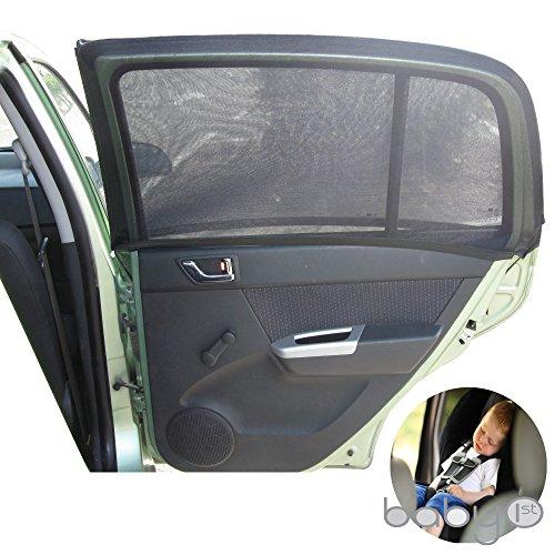 Supporto universale da auto, per retro parasole per finestrini laterali, per massima protezione dai raggi UV, bambini, bambino e Dog. in materiale di ottima qualità, 2 pezzi (1 Set) - No Aria Condizionata