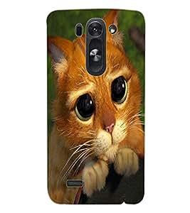 ColourCraft Cute Cat Design Back Case Cover for LG G3 BEAT