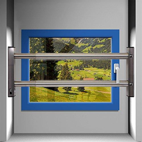 Fenstersicherung Sicherungsstange Türsicherung Einbruchschutz 2Fach 1000-1700mm